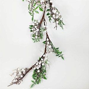 Festão com Folhas e Berries - 130cm