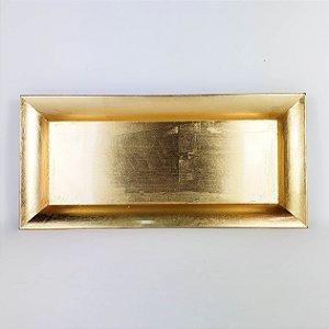 Bandeja Retangular Dourada - 36cmx16,5cm