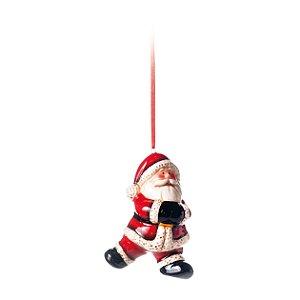 Papai Noel de Cerâmica p/ Pendurar - 11cm