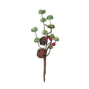 Pick com Folhas e Guizo - 23cm