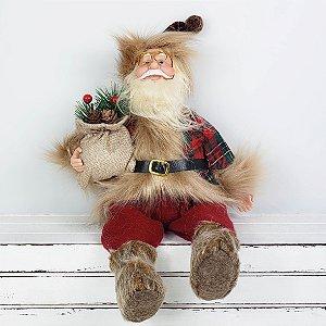 Papai Noel Xadrez - 40cm