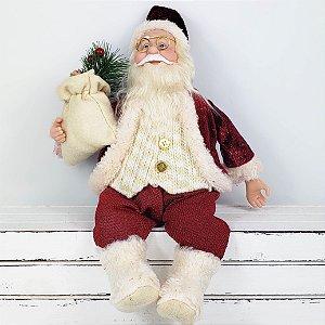 Papai Noel c/ Botas de Pelúcia - 30cm