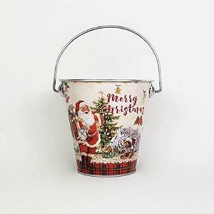 Lata com Alça Papai Noel - 10cmx11cm