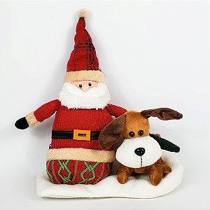 Noel e Cachorro de Pelúcia c/ Sons e Movimentos