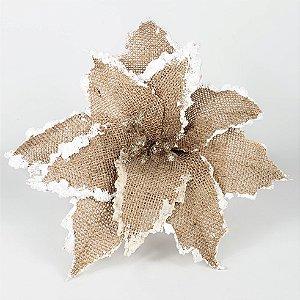 Poinsettia Natalina de Trama Nevada - 24cmx15cm