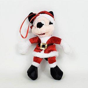 Mickey Vestido de Noel p/ Pendurar - 17cm