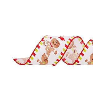 Fita Aramada GingerBread Biscoito Confeitado - 9m