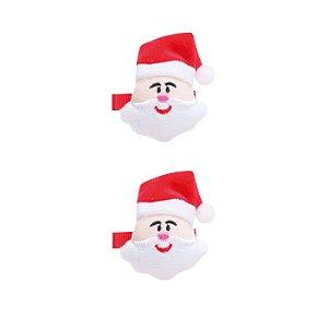 Conjunto 2 Presilhas de Papail Noel - 5,5cm