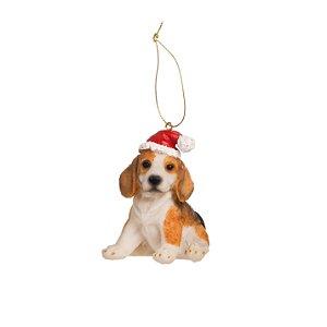 Pingente de Beagle Filhote Para Pendurar na Árvore - 7,5cm