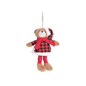 Mini Urso Xadrez - 18cm