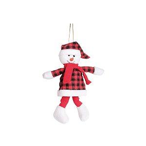 Mini Boneco de Neve Xadrez - 18cm