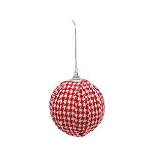 Bola Natalina Old England Vermelha - 10cm