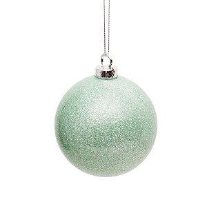 Bolas de Natal Verde Hortelã com 6 Unid. - 8cm