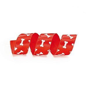 Fita Aramada Vermelha Ossinhos - 9m