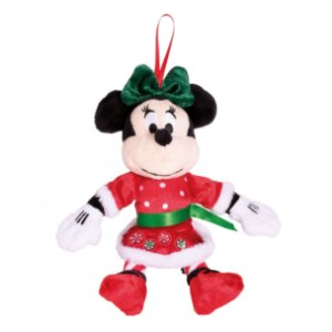 Minnie de Pelúcia Vestido Natal Para Pendurar - 17cm