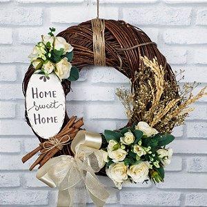 Guirlanda Rústica Home Sweet Home - 35cm