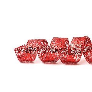 Fita Aramada Vermelha de Glitter - 9m