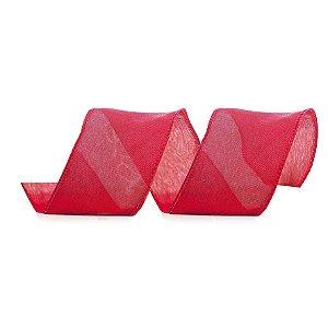 Fita Aramada Vermelha Lisa - 9m