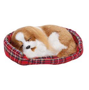 Cachorro Decorativo Dormindo - 18cm