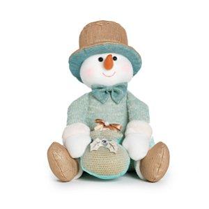 Boneco de Neve Neo Mint Sentado - 25cm