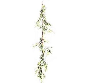 Festão de Galhos Verdes e Berries - 125cm