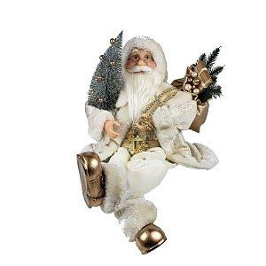 Papai Noel Traje Champanhe Sentado - 45cm