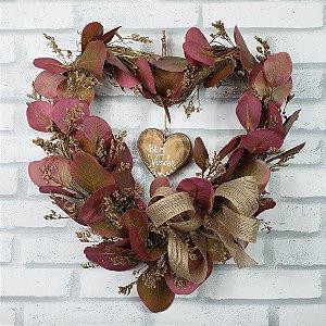 Guirlanda de Coração Amor Perfeito - 30cm