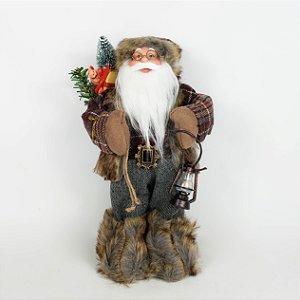 Papai Noel Lenhador em Pé - 45cm