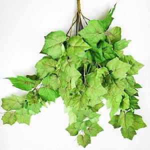 Galho Permanente de Folhas de Uva - 65cm