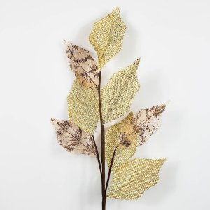 Galho de Folhas Douradas - 65cm