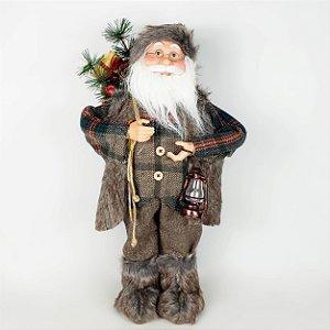 Papai Noel Lenhador em Pé - 60cm