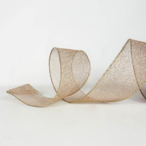 Fita Aramada Dourada com Glitter - 9m