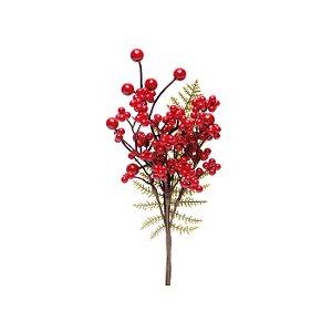 Galho de Berries e Folha de Samambaia - 30cm