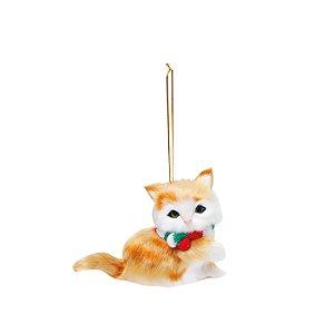 Gato Ginger Para Pendurar - 8cmx10cm