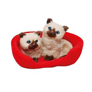 Gatos Siameses - 18cmx14cm