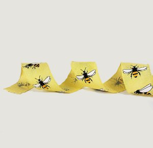 Fita de Tecido Aramada - Amarela / Abelhas