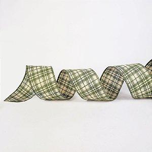 Fita de Tecido Aramada - Verde Xadrez