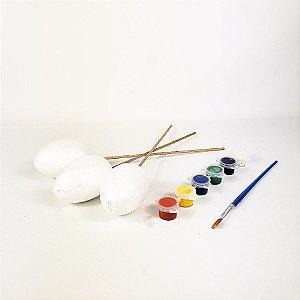 Enfeites para Colorir -  Ovos