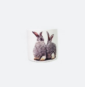 Vaso de Cerâmica Grande- Coelhos