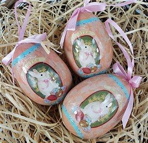 Trio de Ovos Decorados - Salmão