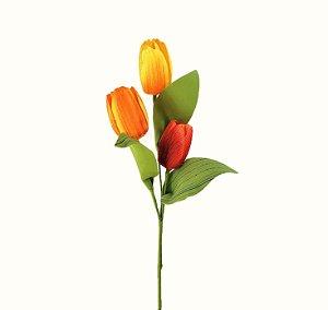 Haste de Tulipa - Vermelha / Laranja