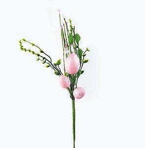 Ramo de Páscoa - Ovo Rosa