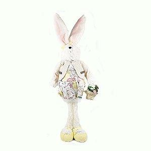 Coelha com Cesta de Flores
