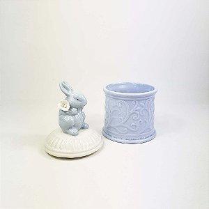 Pote de Cerâmica Coelho - Azul