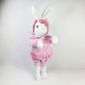 Coelha de Pelúcia - Touca Rosa