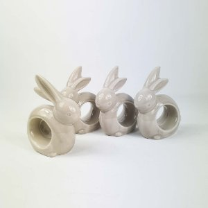 Porta Guardanapos de Cerâmica  - Cinza