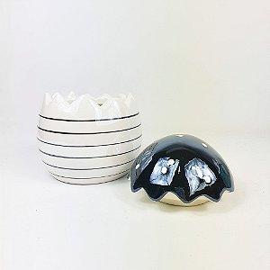 Ovo de Cerâmica - Listrado
