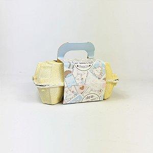 Caixa Para Ovos -  Coelhos/Flores