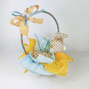 Cesta de Páscoa - Azul/Amarelo