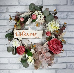 Guirlanda de Flores -  Welcome Home/Rosa